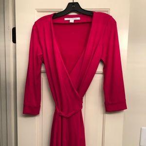Diane von Furstenburg Mid Length Wrap Dress